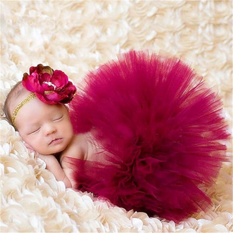 Photography Prop for baby girl 0-3 Months Tutu Skirt Headdress Newborn Outfits