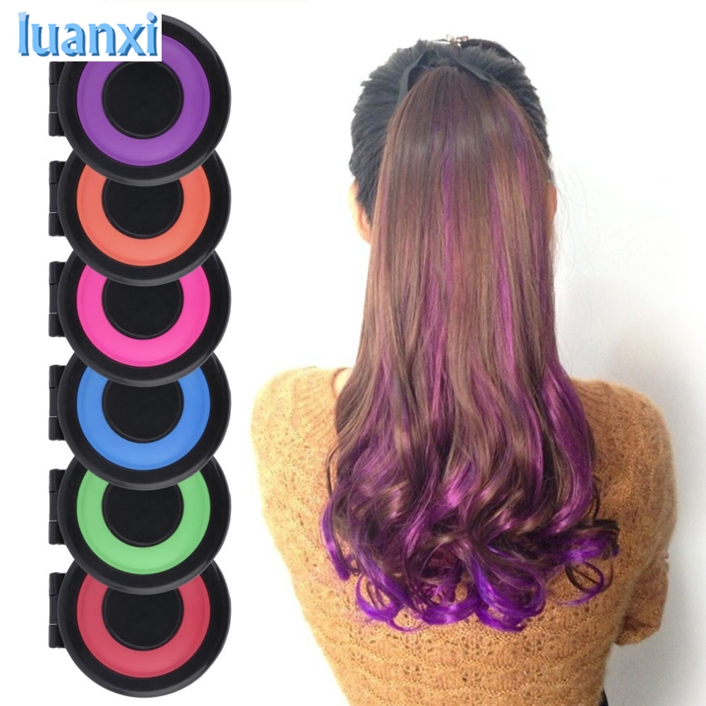 Details Of 6pcs Hair Color Crayons Temporary Hair Dye Powder