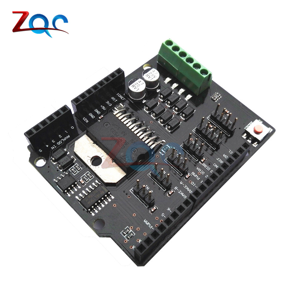 Replace L298P Dual Channel DC Motor Driver Shield Expansion Board L298NH Module Driving Module For Arduino UNO R3 MEGA2560 One catalex arduino expansion board clock shield two wire digital module blue black