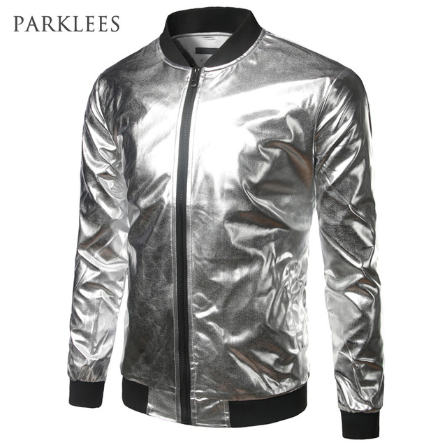 Metallic Silver Casual Bomber Jacket For Men (Different Colors)