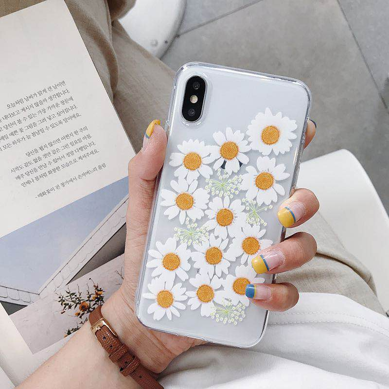 Daisy Flower <font><b>Case</b></font> For <font><b>Vivo</b></font> Y51 <font><b>Y53</b></font> Y55 Y66 Y67 Y71 Y75 Y79 V7 Plus Soft Silicone Transparent Phone <font><b>Cases</b></font> Clear Back Cover image