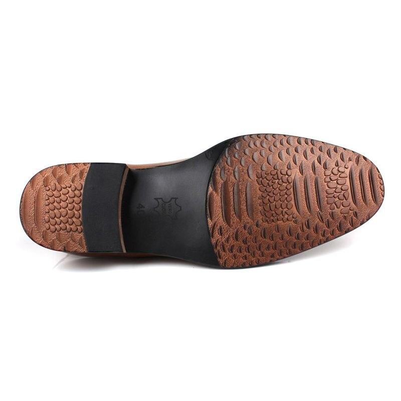 Itália Homens do Projeto Do Vestido de Casamento Sapatos de Couro Genuíno Homem Calçado Clássico Apontou Toe Sapatos de Negócios Formais New Oxford Chaussure - 6