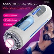 Leten a380 pistão automático masculino masturbador masculino mãos livres masturbadores bolso bichano sexo brinquedo telescópico sexo máquina para o homem