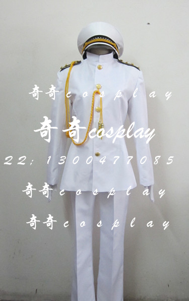 NEW Arrival Kantai Collection T Admiral uniforms t cosplay uniform male and female cos customized 4/lot full set