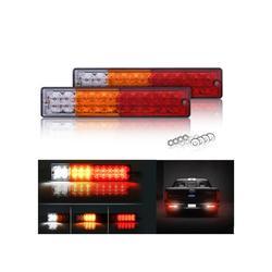 1 Par HL-F-081 Sinal de Luz Da Cauda Do Reboque 12 V LEVOU Luzes Do Reboque Correndo Lâmpada para Carros e Caminhões Reboques