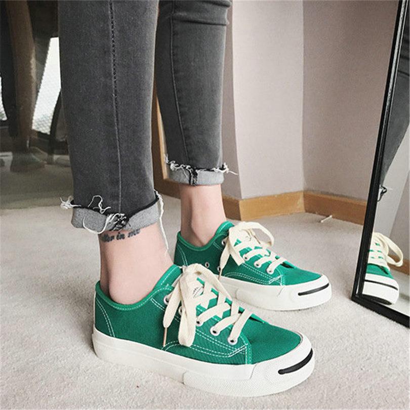 Moda Nuevo Los Zapatillas Lona Deporte Al Oxfords blanco Bajo Vulcanizar Fiesta De Negro Tacón Aire rojo Zapatos Caminar Libre Casuales Nayiduyun verde Hombres ZwSxUnq