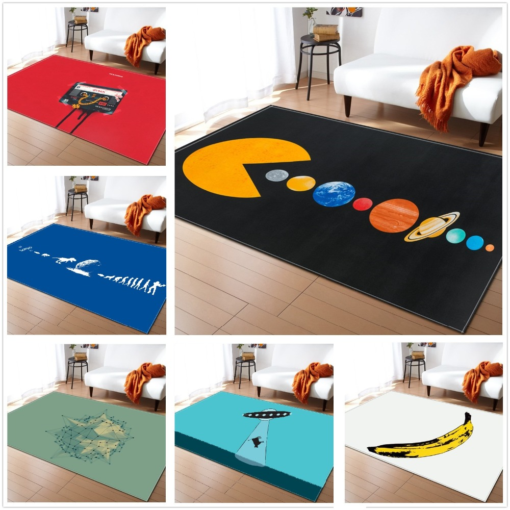 Creative Universal Style Carpets Cartoon Kids Rugs Computer Chair Rugs Area Mats For Bedroom Anti Skid Carpets Funny Rug tapete