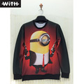3d Hoodies Women Men's Sweatshirts Minions School for Monsters Titanic Mermaid Anime Hoodies Brand-clothing Fashion Style