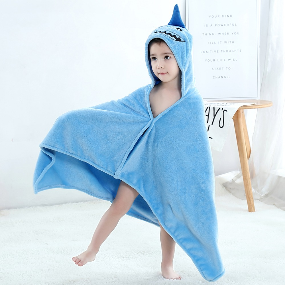 Baby Animal Cartoon Hooded Towel Beach Bath Robes Soft Children Poncho Towels Bathing Suit Towel For Boys Girls Kids Bathrobe 7
