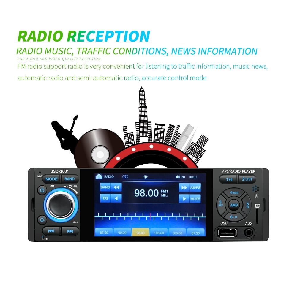 Podofo rádio do carro 1 din autoradio