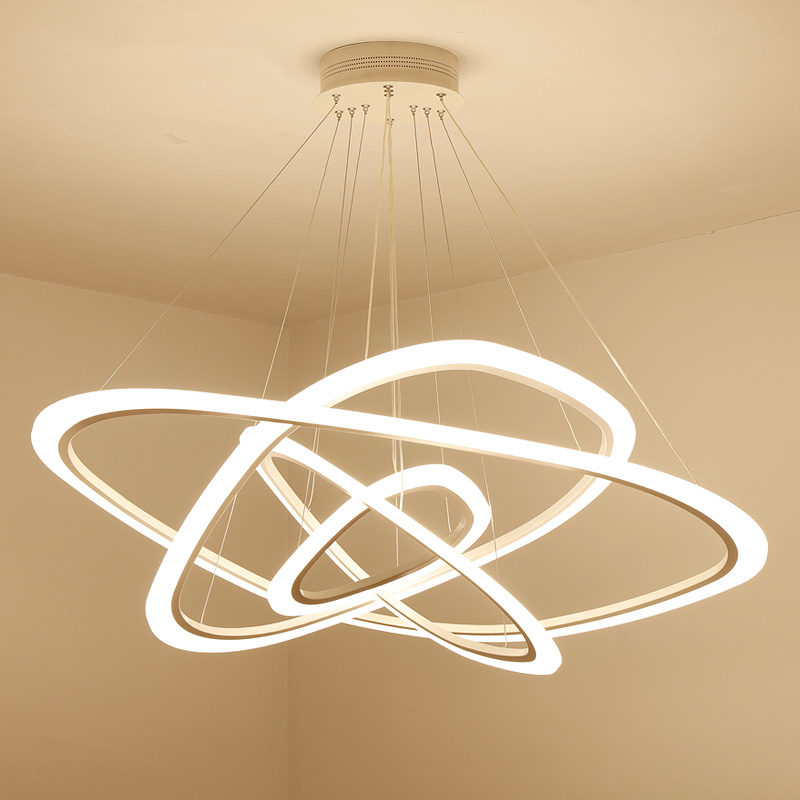 Modern LED chandelier Nordic living room rings hanging lights home deco fixtures dining lighting bedroom pendant lamps