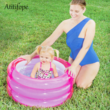 Indoor and outdoor Plastic inflatable Bathroom Baby Bath Pool Paddling pool pink blue  summber water play toys