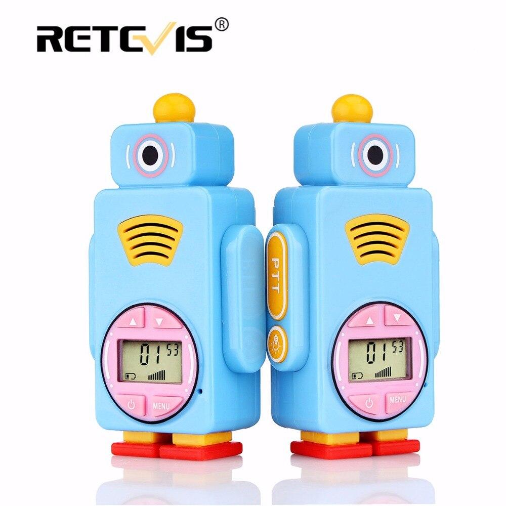 2 piezas Retevis RT36 Mini Walkie Talkie para niños 0,5 W 8/14CH VOX PTT linterna carga Micro USB juguete del niño regalo de cumpleaños/Navidad