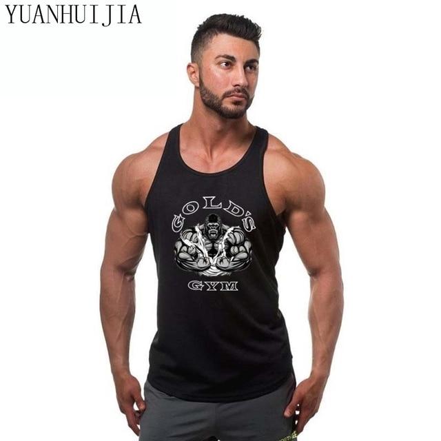 778facf16f1ab8 New 2018 Golds gyms clothing Brand singlet bodybuilding stringer tank top men  fitness shirt muscle guys sleeveless Tank top
