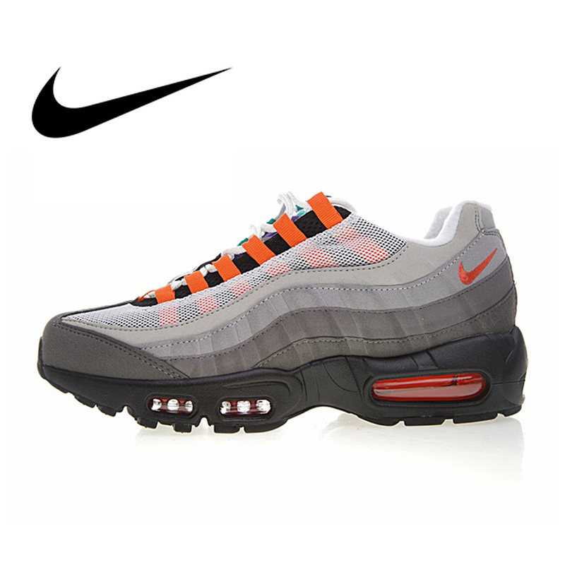 Authentic NIKE AIR MAX 95 OG QS Men's Running Shoes Sport Outdoor Sneakers Athletic Designer Footwear 2019 New 810374 078