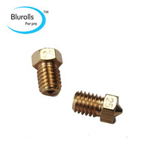 3d printer parts diy reprap brass V6 nozzle 0 25mm 1 75mm filament hotend marked number
