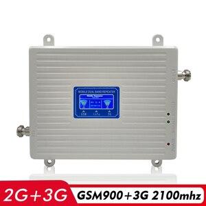 Image 2 - Amplificador de señal de banda Dual de 65dB 2G GSM 900 3G UMTS WCDMA 2100 MHz, repetidor de señal para teléfono móvil, amplificador de señal móvil, juego completo