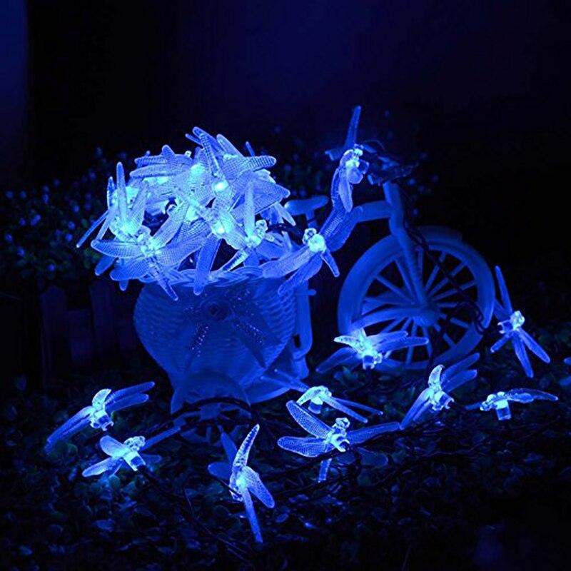 Dragonfly Solar String Φώτα 20 LED αδιάβροχο Fairy - Φωτισμός διακοπών - Φωτογραφία 3