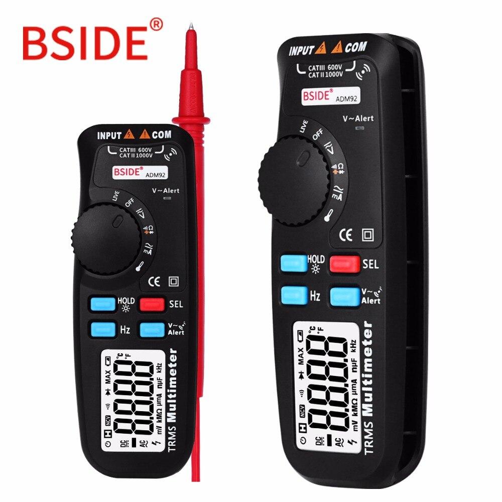 Digital-Multimeter BSIDE ADM92 Professionelle Multimetro DC/AC Amperemeter Voltmeter Multitester Thermometer Kapazität ohm Tester