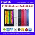 DHL Бесплатная Доставка 20 шт./лот 9 дюймов A23 bluetooth Android 4.4.2 512 МБ DDR3 RAM 8 ГБ ROM Многоточечный сенсорный емкостный экран