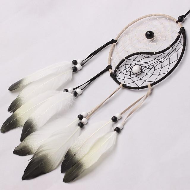 Diy Dreamcatcher Aeolian Bells With Feather Pendant Pure Handicrafts