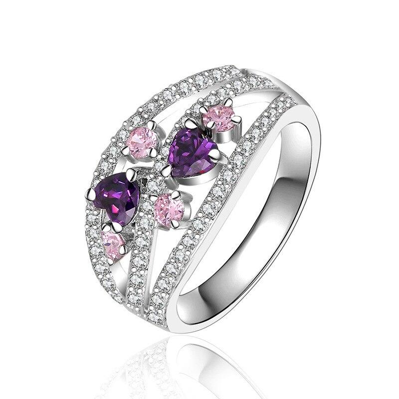 david kabel turkish girls princess purple flower clover love ring new wedding bands for women