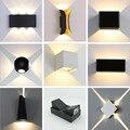 AC110-220V 4-12 W في الهواء الطلق إضاءة مقاومة للماء الجدار مصباح الحديثة الشمعدان درج تركيب المصابيح السرير داخلي المنزل المدخل لوفت الإضاءة