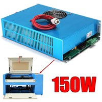 AC 110V 150W Laser Power Supply High Speed Blue for CO2 Laser Engraving Cutting Machine Visible Light with Cable