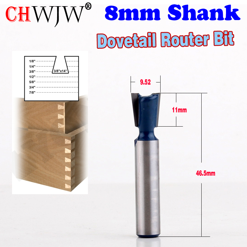 "1//2/"" x 1/"" NEW 14 Degree Dovetail Router Bit Carbide HSS 1 2-Flute"