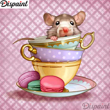 Dispaint Full Square/Round Drill 5D DIY Diamond Painting Mouse cup scenery 3D Embroidery Cross Stitch 5D Home Decor A12360 dispaint full square round drill 5d diy diamond painting hedgehog cup 3d embroidery cross stitch 5d home decor a12359