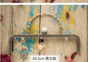 Image 3 - 20.5 Cm Khung Kim Loại Cho Ví Cầm Tay Cô Gái Miệng Túi Vàng Khóa Phụ Kiện 3 Cái/lốc