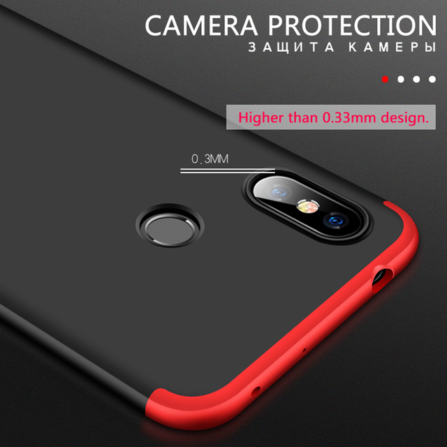 360 Degrees Full Protection Phone Case For Redmi Note 5 - 6 3