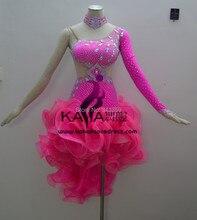 New Style!KAKA-L140212,Women Latin Dance Wear,Fringe Salsa Dress Tango Samba Rumba Chacha Dress,Latin Dance Dress For sale