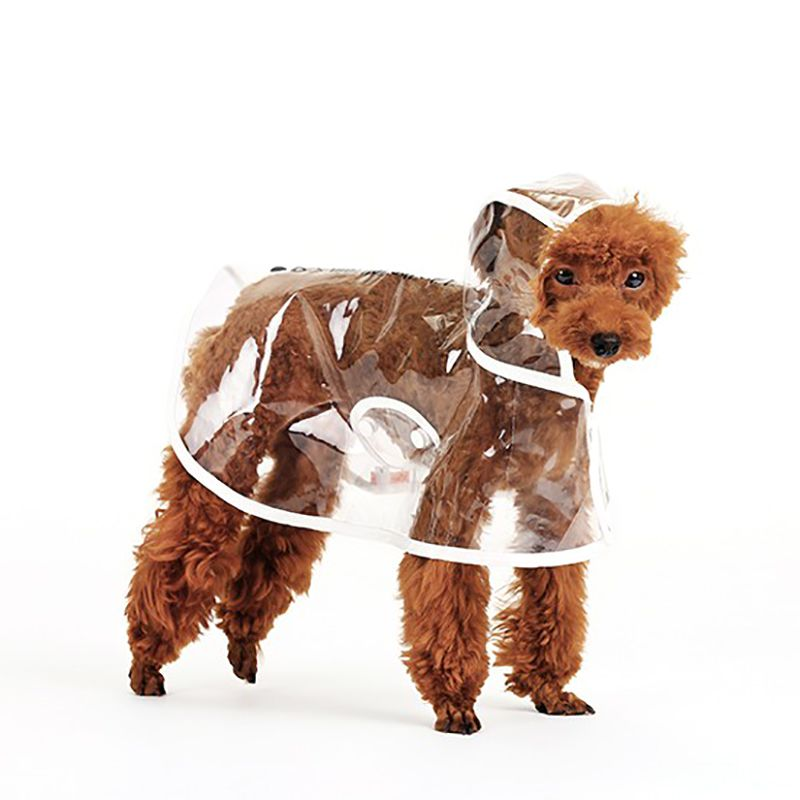New 3 Colors Dog Clothes Transparent Raincoat Light Clothes Waterproof Beautiful Small Dog Raincoat With Hood