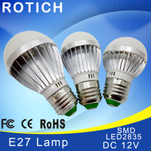 E27 E14 LED ampul ışıkları DC 12V smd 2835 çip lampada luz E27 lambası 3W 6W 9W 12W 15W 18W spot lambası Led ampuller