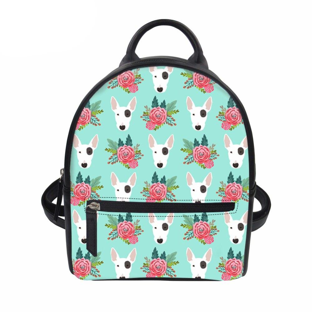 Customized Backpack Female Bull Terrier Mini Backpack School Back Pack Women Rucksack Mochila Escolar Feminine Backpacks Girls