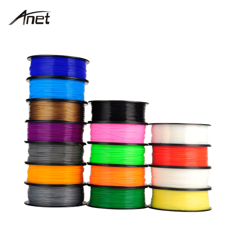 7 Colors PLA ABS 1Kg/spool 3D Printer Filament 1.75mm Plastic Rod Rubber Ribbon Consumables Material Filaments for 3D Printer abs gold filaments 1 75mm 1kg spool wanhao 3d printer