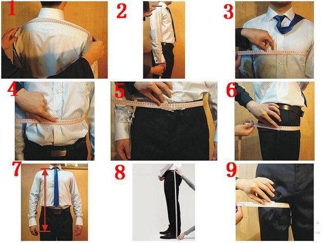 3 Piece Tuxedo Custom Gentle Blazer Groom Prom Suits  5