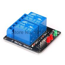 5pcs Black 2 Channel Relay Module 5V lamp Low level for SCM Household Appliance Control font