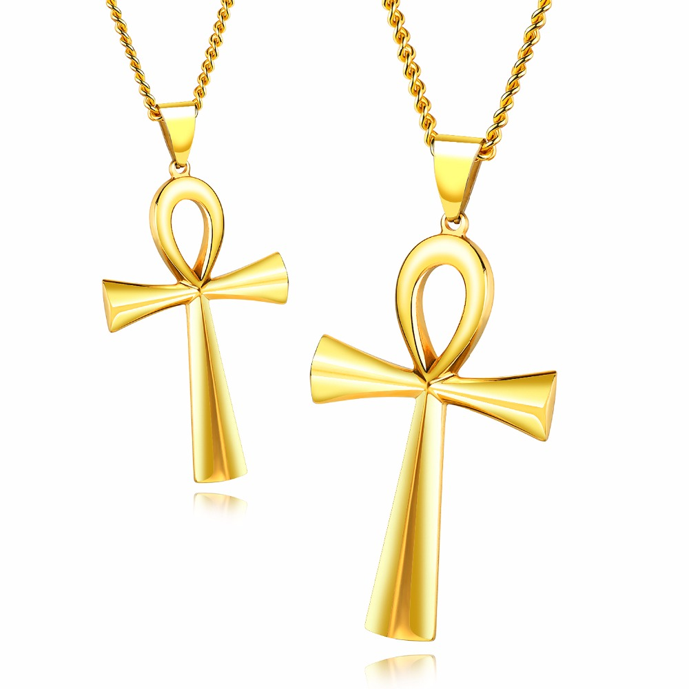 Meaning life egyptian ankh pendants necklace 3color stainless meaning life egyptian ankh pendants necklace 3color stainless steel smooth design blessing religious gift gx1180 in pendant necklaces from jewelry aloadofball Image collections