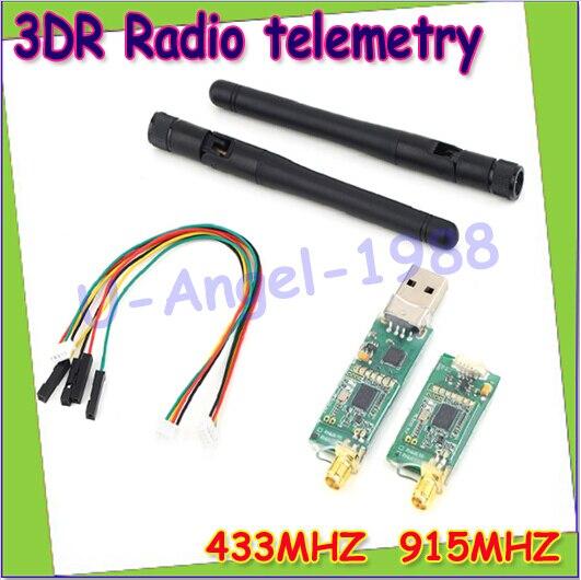 Wholesale 1pcs 3DRobotics 3DR Radio Telemetry Kit 433Mhz 915Mhz Module for APM APM2.5 2.6 Pixhawk PX4 Dropship minimosd on screen display osd board apm telemetry to apm 1 and apm 2