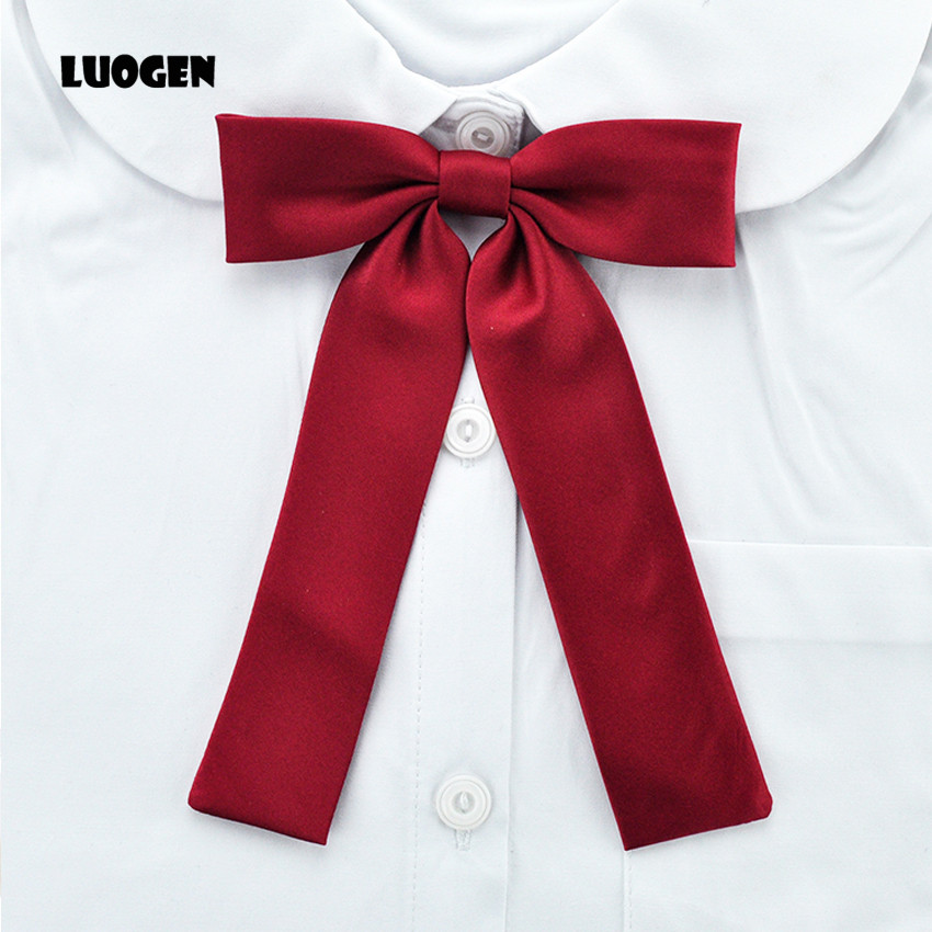 4136b444e Kawaii المرأة بلون اليابانية طلاب المدرسة الفتيات كيه موحدة ربطة عنق طويل  العنق تأثيري لوليتا gravata borboleta