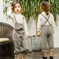 2017 Spring and Autumn new girls leave two vest harness girls Korean version of the pants tide free shipping