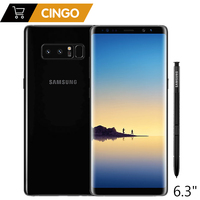 Оригинальный samsung Galaxy Note 8 6,3 дюймов Восьмиядерный 6 ГБ Оперативная память 64 ГБ Встроенная память две задних камеры 12MP 3300 мАч разблокированны