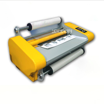 RM-358 Roll Laminating Machine Laminator Film Laminating Machine Hot Cold Mounting Single Double Side Heating Mode Width 380mm