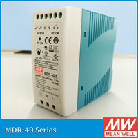 Meanwell MDR 40 5V 12V 24V 48V 40W Din Rail power supply ac dc driver AC/DC voltage LED strip 110V 220V laboratory power supply