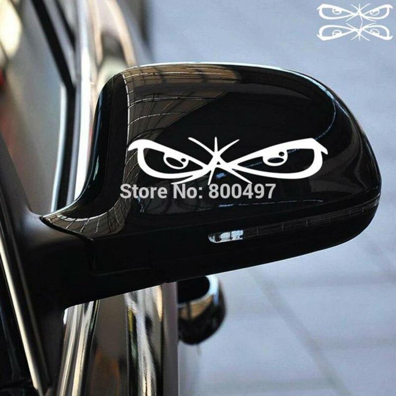 ᗛ20 x espejo retrovisor Etiquetas de coche Funny evil Ojos car ...
