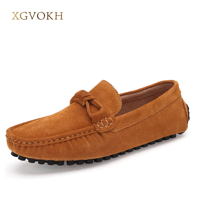 Leather Casual Shoes Men Loafers Flats Moccasins Spring Autumn Shoes Soft Driving Shoes