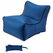 Портативный складной надувной диван путешествия ленивый мешок спальный пляж водонепроницаемый диван воздуха Открытый Кемпинг Карманный стул#2