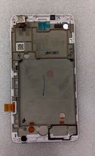 ФОТО White color LCD Display Digitizer Touch screen+frame Assembly For  Lenovo A536 replacement